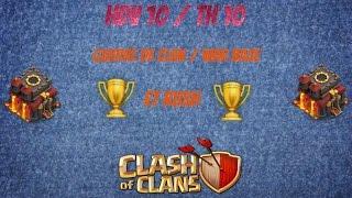 Clash Of Clans : Hdv 10 Guerre De Clans Et Rush 4 Mortiers +Def / TH10 War Base And Rush 4 Mortars