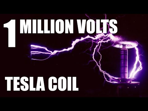 Homemade 1 million volts Tesla Coil (2 of 2)