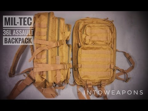 ce1e7f86ada Mil-Tec Molle Backpack 36L Review - YouTube