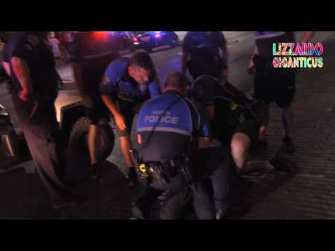 Police Horses Attack, and poop! even the Police President beats man down 06-17-16