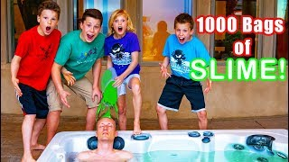 Hot tub SLIME Prank on My DAD!