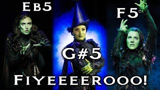 Elphaba's Different Fiyero Riffs (C♯5 - G♯5)