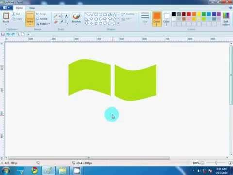 Create A Windows Xp Logo Using Paint Youtube