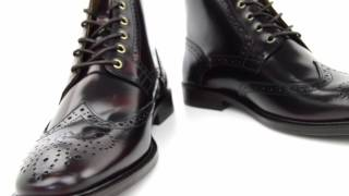 04ba010dee39 Modshoes The Shelby Oxblood Brogue Boots Video May 2017