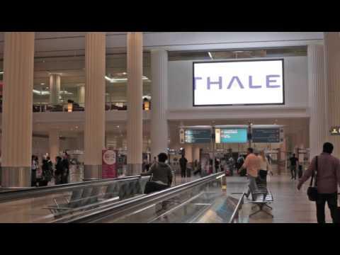 Campagne Worldwide Thales DCO à l'aéroport de Dubai