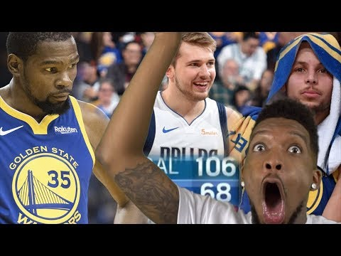 WARRIORS GET 40 BALLED! NEVER EVER LEAVE CURRY'S SIDE DURANT LMFAO! WARRIORS vs LUKA DONCIC