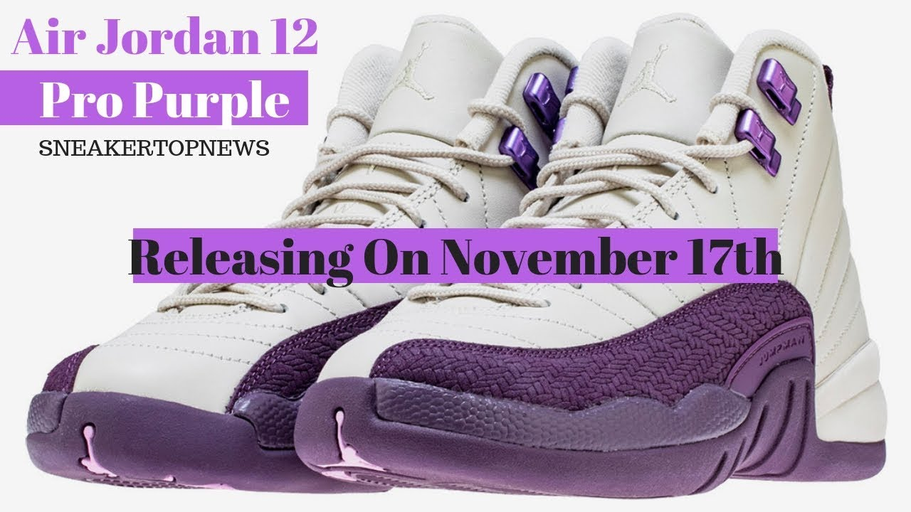 "71225ed869bcc7 Air Jordan 12 ""Pro Purple"" Releasing On November 17th - YouTube"