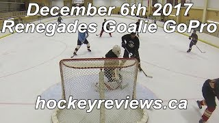 December 6th 2017 Renegades (Call Up) Hockey Goalie GoPro