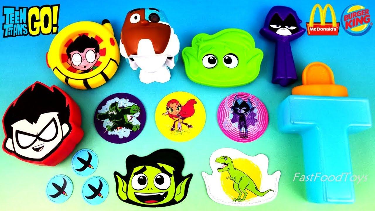 Teen Titans Go Kids Meal Toys Full Set 6 Burger King 2015