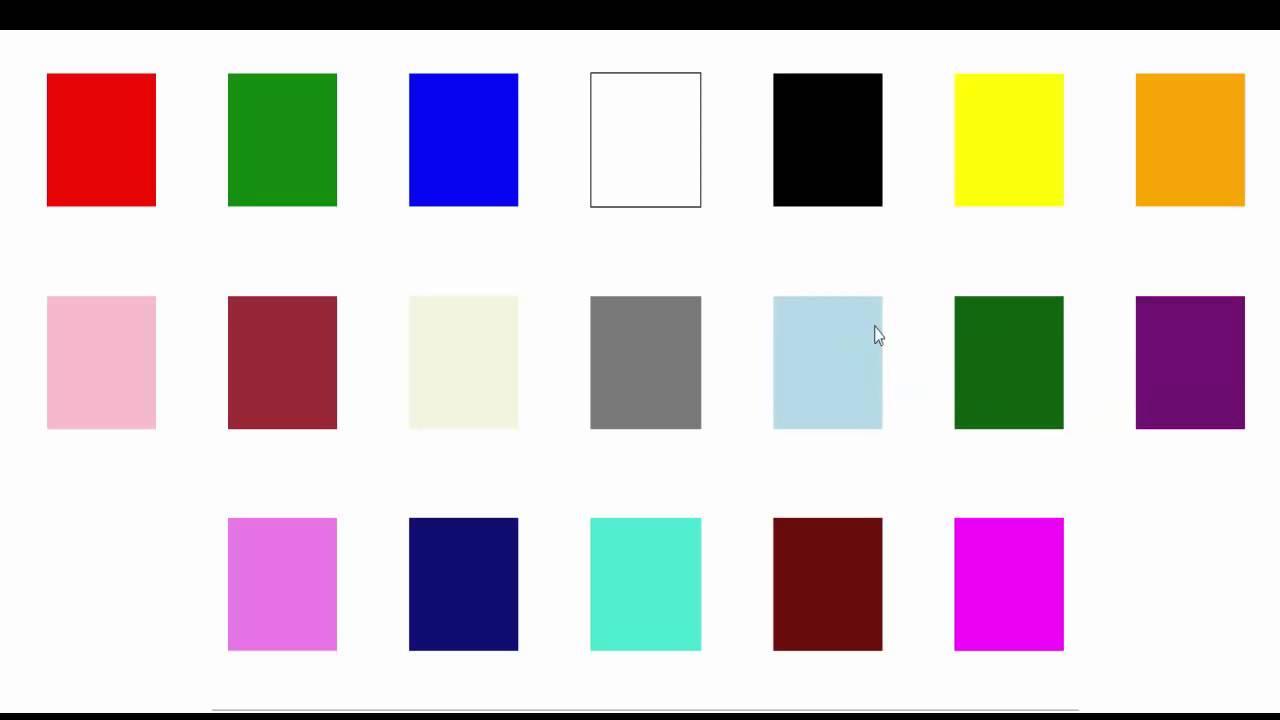 apprendre l 39 arabe apprendre les couleurs en arabe youtube. Black Bedroom Furniture Sets. Home Design Ideas