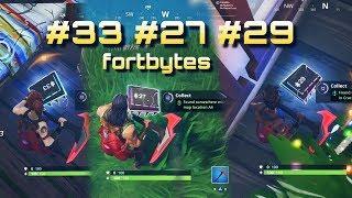 Fortnite FORTBYTES #33 #27 #29 location challenges