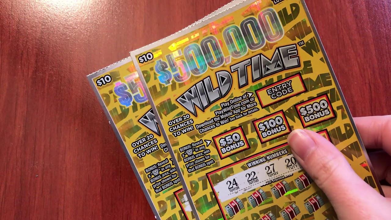 New $10 $500,000 Wild Time - Michigan Lottery - 3/10/19