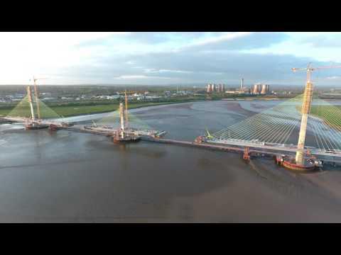 Mersey Gateway AerialFootage