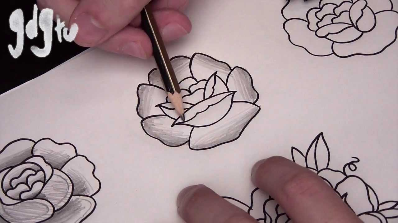 01487b34d Where to Shade / Shading Techniques for Tattoo Designs - YouTube
