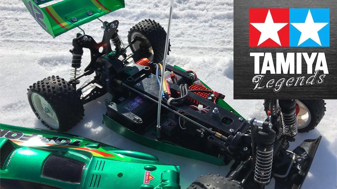 Tamiya Top Force First Brushless Run! 4370kv Motor on 2s Lipo
