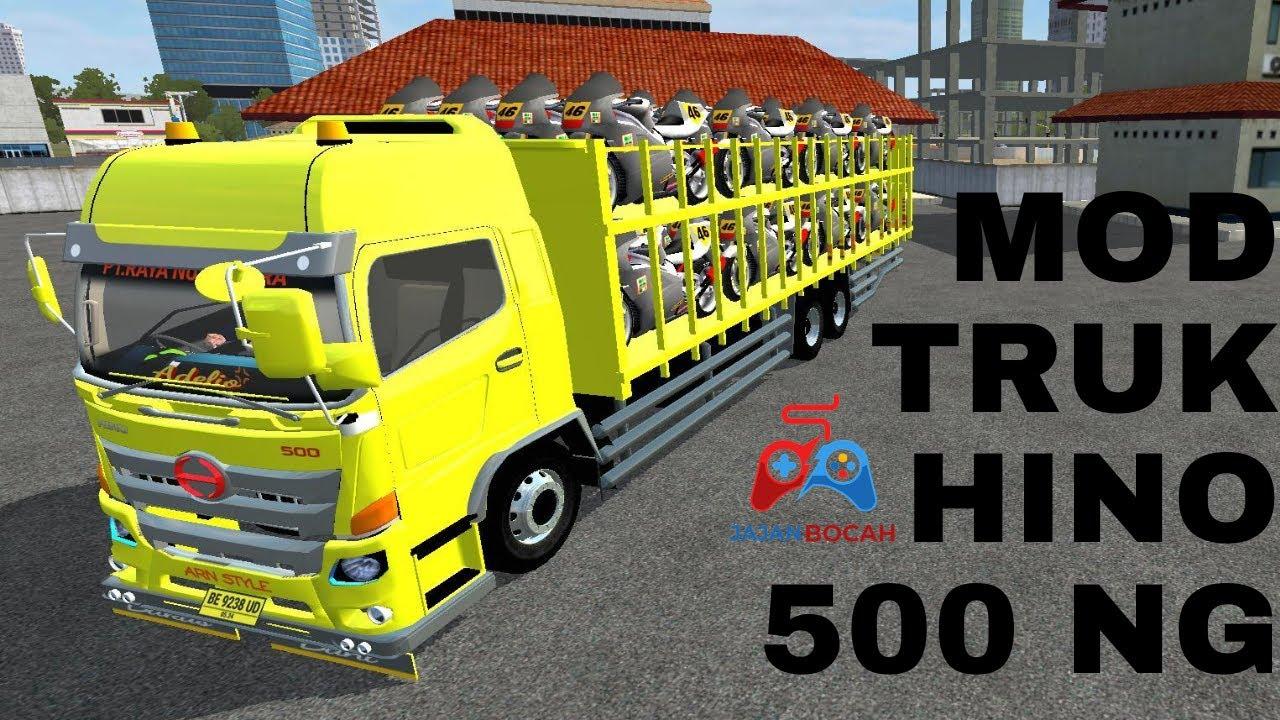 MOD TRUK HINO 500 NG Muatan Motor | BUSS ID | Bus Simulator Indonesia | Game Truck