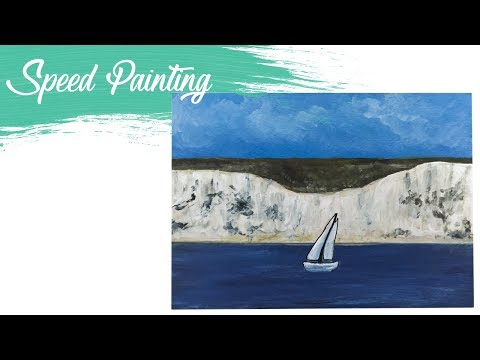 White Cliffs of Dover: Acrylic Speed Painting