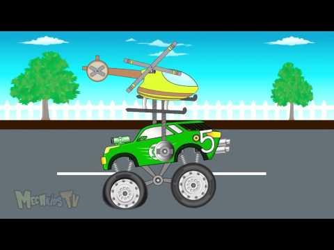 Trực thăng cứu hộ xe quái vật,tập đếm số lần cứu hộ xe quái vật - hoạt hình của trẻ em