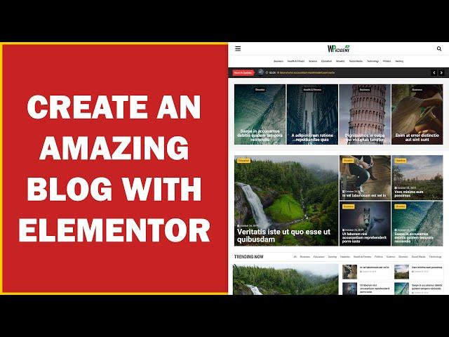Create an Amazing Blog with Elementor - Urdu & Hindi Tutorial