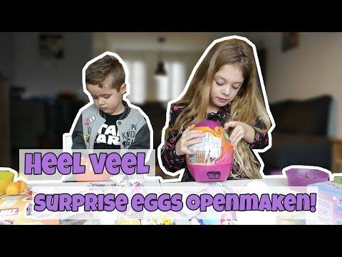 SUPER VEEL SURPRISE EGGS OPEN MAKEN !! Broer en Zus TV VLOG #114