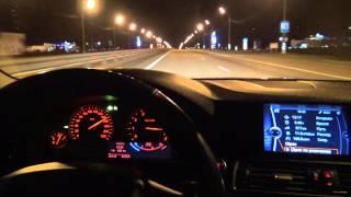 BMW 5 speed run in Russia 200 kmh+