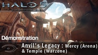 Halo 5 - Anvil's Legacy : Mercy (Arena) & Temple (Warzone) (Demo Gameplay)