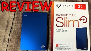 Seagate Backup Plus Slim 2TB Blue Unboxing & Review (Best USB Portable Storage Hard Drive)