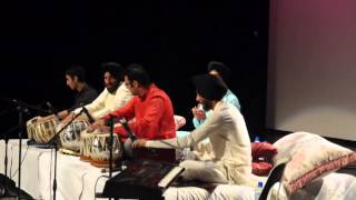 Group tabal vaadan students of Rhythm School of Indian Music, Auckland.part 1