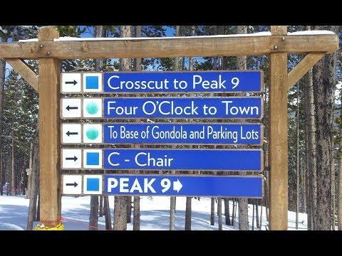 Breckenridge Ski Tour: Crosscut to Lower Sawmill (Pk8 to Pk9, Intermediate/Beginner)