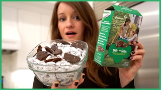 Making Thin Mint Puppy Chow!