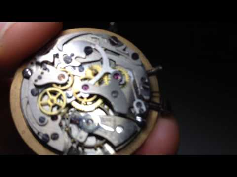 Vintage Rare CHRONOGRAPHE SUISSE Watch Movement Chronograph 17. Landeron Cal 48? Video7339