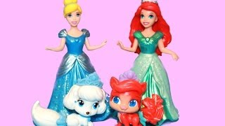ARIEL & CINDERELLA give Mattel PALACE PETS on a date with Littlest Pet Shop Play-Doh