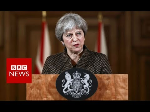 Theresa May: Syria strikes \'both right and legal\'   - BBC News