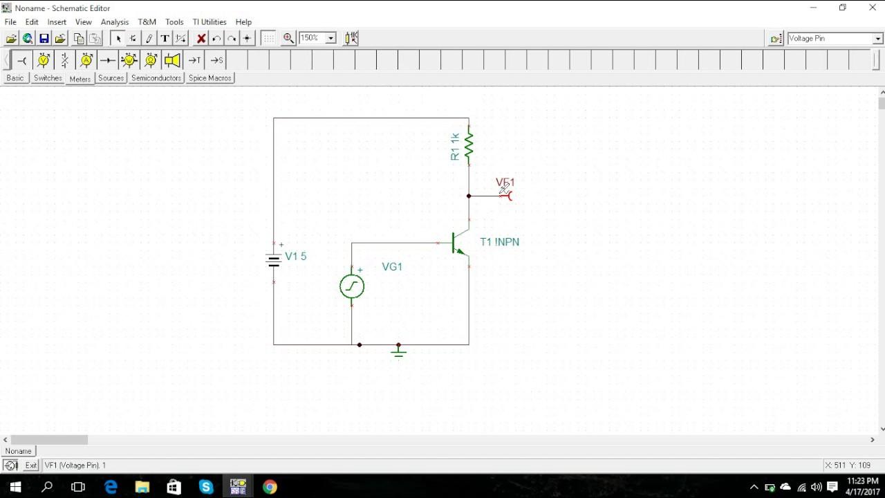 BJT Inverter using Step input | voltage transfer characteristics | P spice  | Tina-T