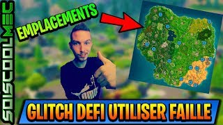 GLITCH CHALLENGE! USE A LOOPHOLE IN DIFFERENT PLACES! ALL LOCATION! FORTNITE BATTLE ROYAL!