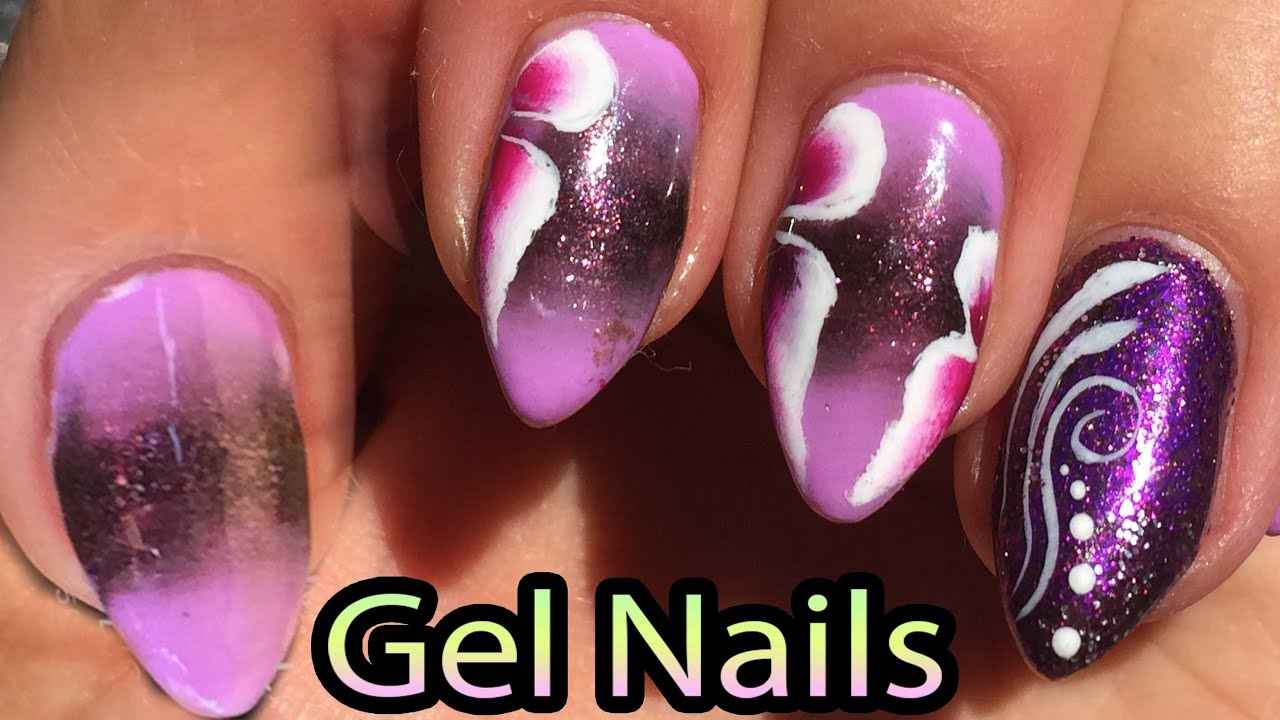 How To Gradient Nails With Soak Off Gel Polish,NAIL DESIGN 2016, One ...