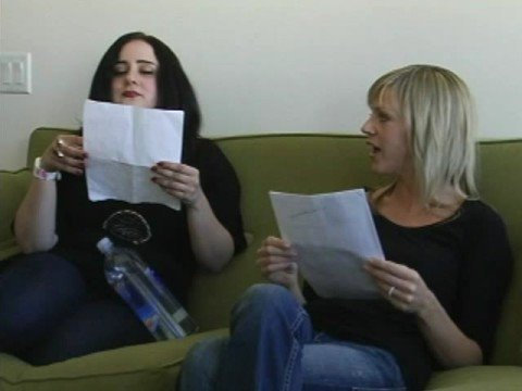Dee & Artemis at an Audition