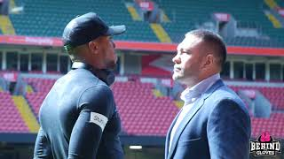 HEAVYWEIGHT SHOWDOWN! ANTHONY JOSHUA AND KUBRAT PULEV FACE OFF IN CARDIFF