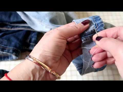 Как подшить джинсы без машинки