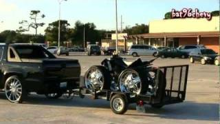 Chevy Avalanche Truck on 28's towing a 4 Wheeler on 26's - 1080p HD