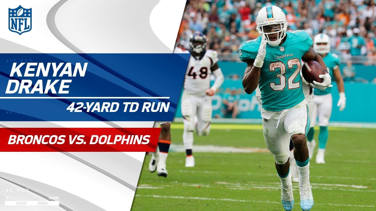 separation shoes ae5a0 65ae7 Kenyan Drake Jukes His Way to a 42-Yd TD Run! | Broncos vs. Dolphins | NFL  Wk 13 Highlights