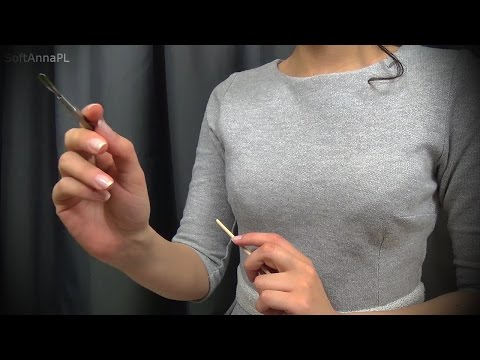ASMR Scraping Your Spongy Ears l Binaural Sound with Polish Whisper