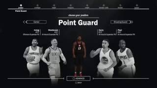 NBA 2K17 MYPLAYER CREATION, PLAYER TYPE INFO. HOW YOU MAKE YOUR PLAYER!