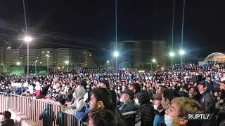 Фанаты Хабиба Нурмагомедова в Дагестане празднуют его победу над Гэтжи в UFC