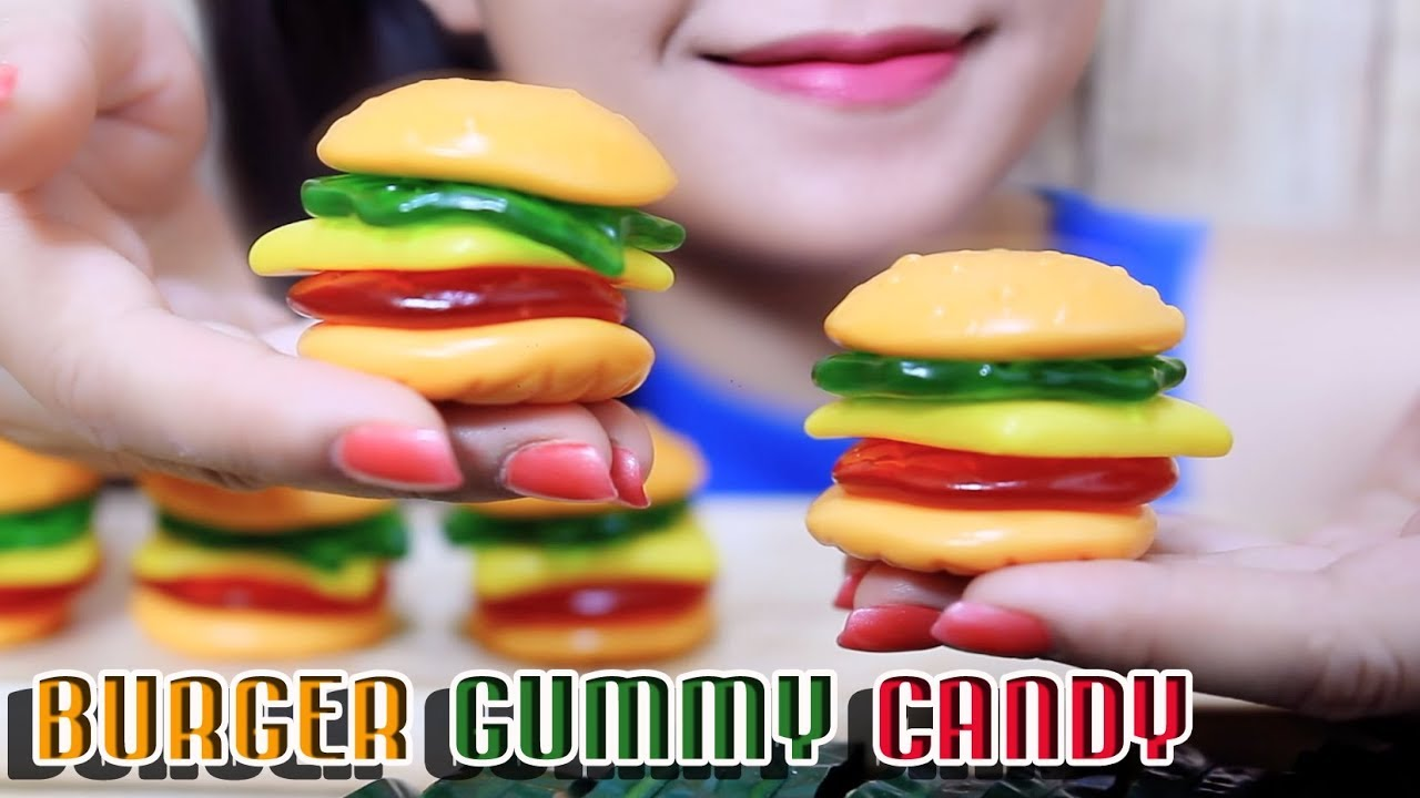 Asmr Burger Gummy Candy Chewy Eating Sounds No Talking Linh Asmr