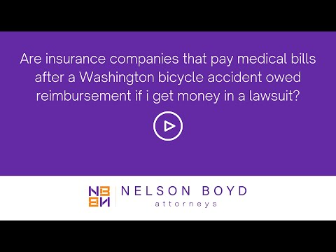 Insurance Companies Owed Lawsuit Money | WA Bicycle Accident | Nelson Boyd Attorneys | Seattle, WA