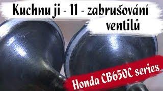 Honda CB650C - Kuchnu ji 11 - lapovani ventilů, odpadlý kousek bloku atd.