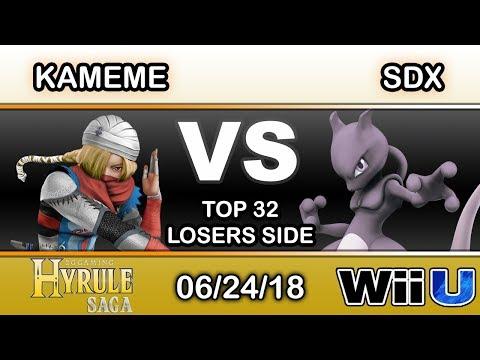 Hyrule Saga - DNG | Kameme (Sheik) Vs. SDX (Mewtwo) Top 32 Losers Side - Smash 4