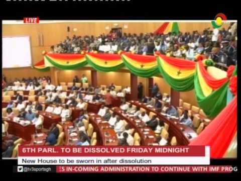 7th parliament to be sworn in Friday...