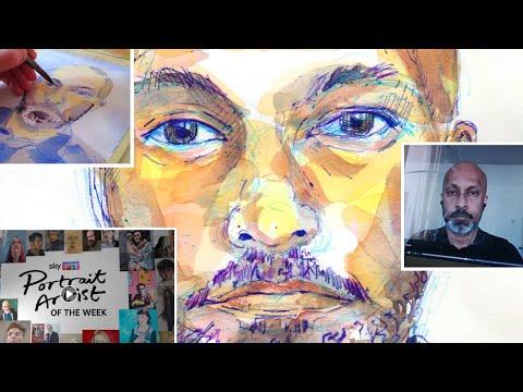 Sky Arts Portrait Artist Of The Week - Akram Khan